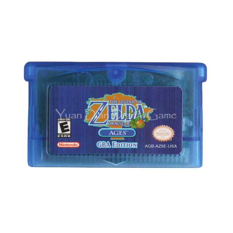Nintendo GBA Consola de Videojuego Cartucho Tarjeta de The Legend of Zelda Oracl