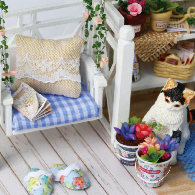 3D Wooden Miniaturas Dollhouse Toys for Children Build It Youself
