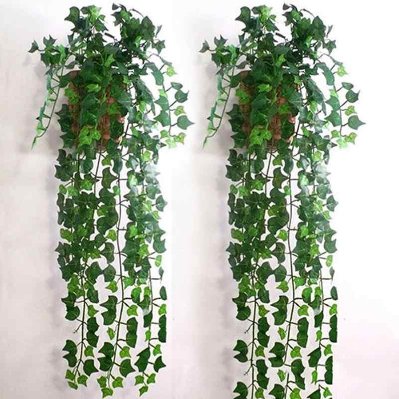 2.5M Buatan Bunga Rotan Garland Tanaman Vine Fake Dedaunan Bunga Dekorasi Rumah Plastik Evergreen Cirrus