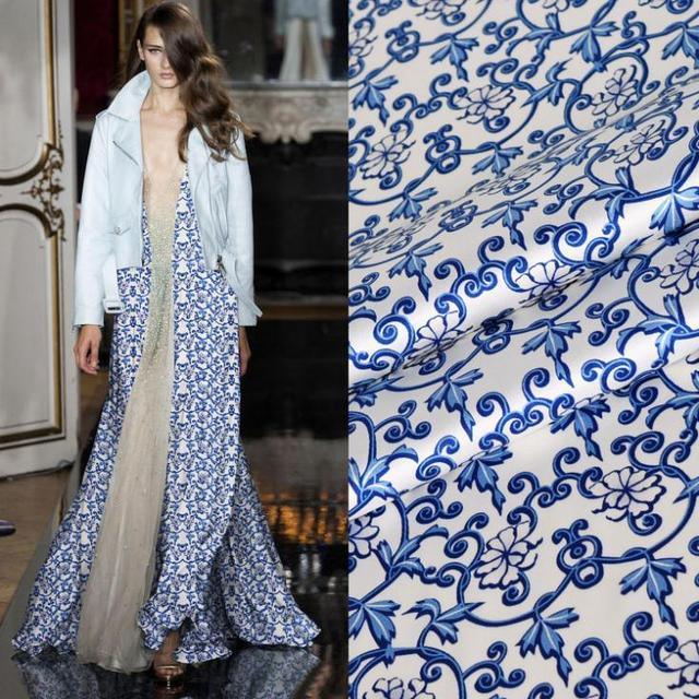 Chinesischen stil seide cheongsam kleid stoff inkjet stretch satin ...