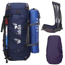 70L Hikng plecaki duże torby sportowe dla mężczyzn i kobiety 60L + 10L rama zewnętrzna torby plecaki camping podróży najlepiej plecaki