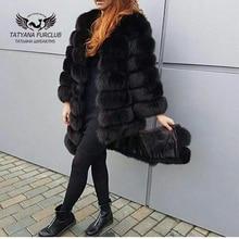 Luxurious Fox Fur Coat,100% Real Value Fox Fur Coats,Women's Winter Jacket,Ladies Down Jacket,Women's Fur Coat From Natural Fur