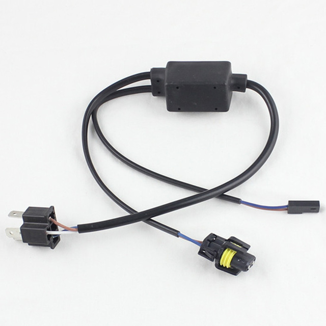 HID H4 H L socket wiring harness controller Bi xenon cable wires H4 3 9003 HB2_640x640 aliexpress com buy hid h4 h l socket wiring harness controller hid 12v wiring harness controller at creativeand.co