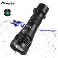 AloneFire DV43 Super Brigh Diving Flashlight White Light L2 26650 underwater divers torch