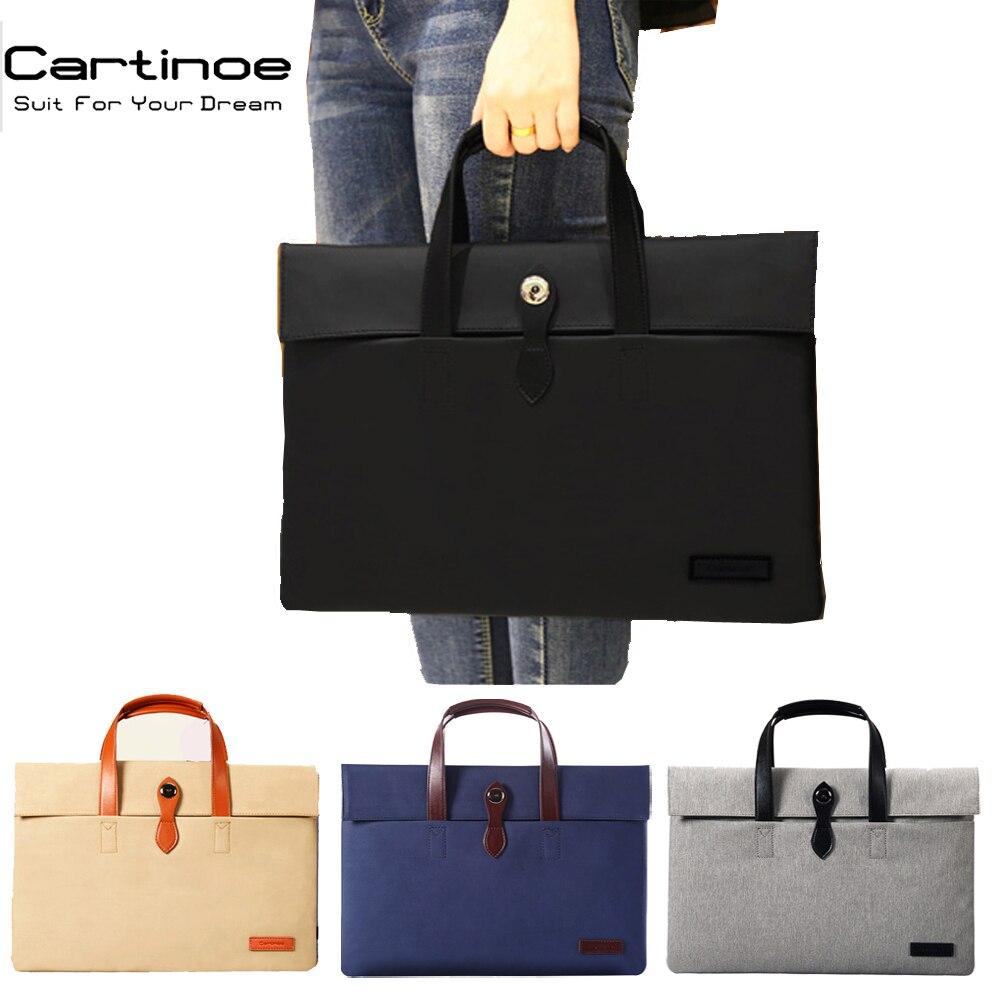 PU Leather Laptop Bag 15.6 14 13 12 inch Notebook Bag Computer Sleeve for Macbook Air 15 Case Briefcase Bags Men Women Handbag