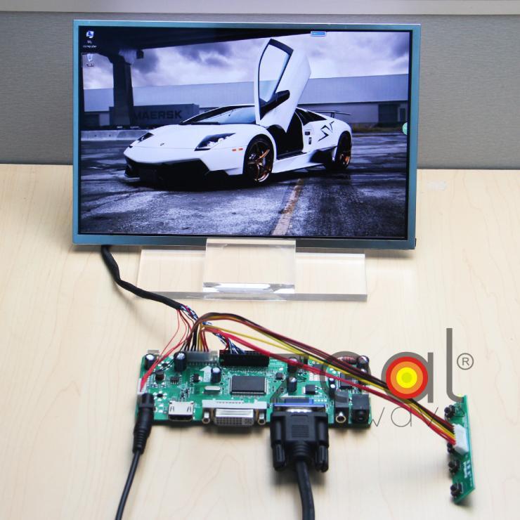 (HDMI+DVI+VGA+Audio) LCD/LED Controller Board+N101ICG-L21 HSD101PWW1 10.1