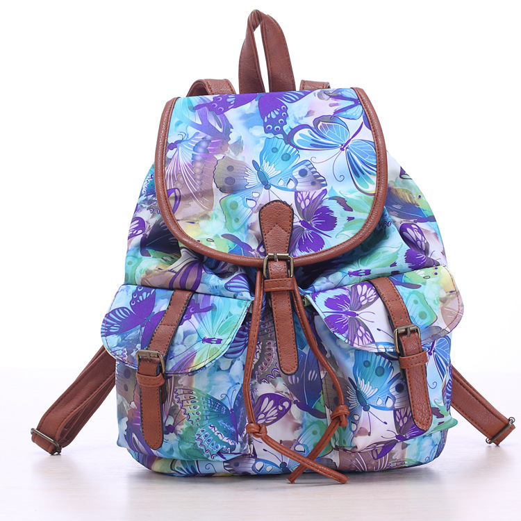 Aliexpress.com : Buy 2015 Women floral Printing Backpack Canvas ...