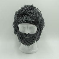Смешные маски партия шапочки парик борода Шапки Для мужчин и Для женщин подарок на Хэллоуин Хобо сумасшедшего ученого раста пещерный ручно...