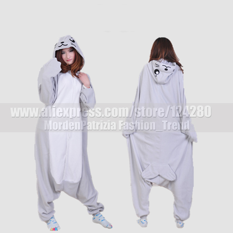 NEW Adult Women Men Grey seal Costumes onesies Animal Otarriinae Cosplay Pajamas Pyjamas Jumpsuit in Winter Halloween Party