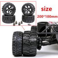 Broadened Waterproof Front Rear Wheels Wear Resistant Tire for 1/5 LOSI 5IVE T 4WD BAJA 220X100mm1 Rc Car Parts