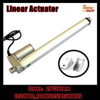 20inch/ 500mm , 12v/24v DC linear actuator with mounting bracket, 1000N/100KGS load electric linear actuator with low price!!!