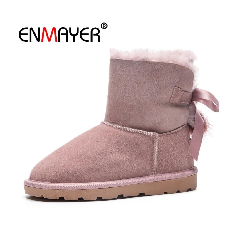 Causal Botas Cálido Enmayer Nieve Cr1751 Brown De gray Invierno Pajaritas Redonda Bajo 34 pink Zapatos Mujeres Punta Señora Talla 40 Tobillo Moda Tacón aaEfwS