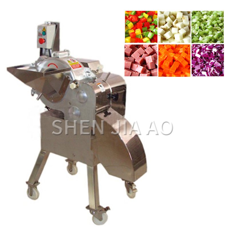 500-800KG/H Electric Dicing Machine Commercial Vegetable Dicer Multi-function Food Processer For Carrot, Potato, Pineapple, Taro