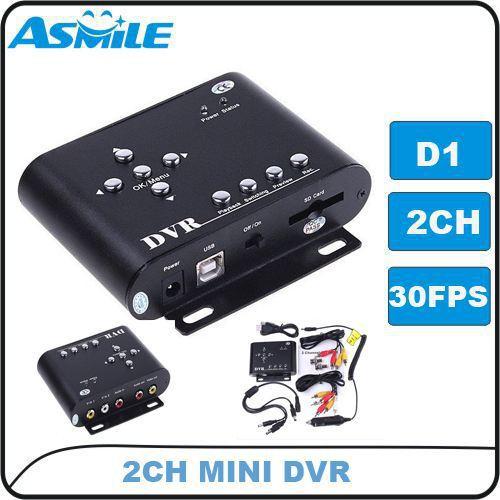 цена на Mini 2CH car black box, SD 32GB,Motion detection, D1 resolution,dvr recorder with 2pcs/lot from asmile