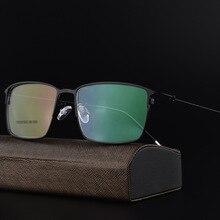 Alloy Glasses Frame Men Ultralight Square Myopia Prescription Eyeglasses Male Metal Full Optical Frame Screwless Eyewear F6059 цена и фото