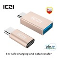 IZCI USB 3.1 Type C Male to Micro USB Female Adapter + USB 3.1 Type C Male to USB 3.0 Female Converter (four colors)