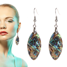 JAVRICK Fashion 1 Pair Exotic Retro Vintage Drop Shape Earrings Oval Mother-of-Pearl 34x18mm   pair of vintage faux crystal oval drop earrings for women