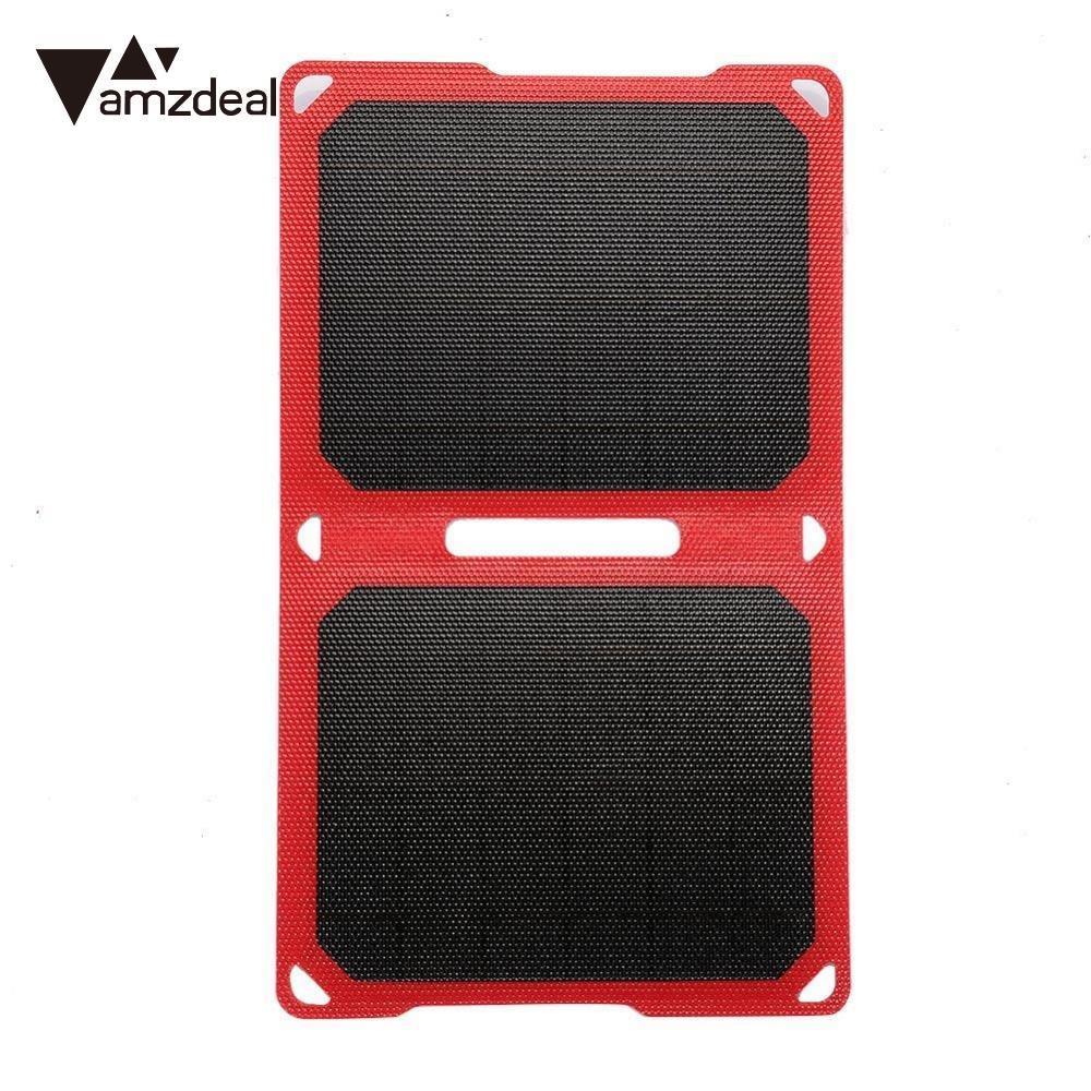 Amzdeal Portable pliable 5 V 10 W panneau d'alimentation solaire chargeur batterie pour téléphone Portable