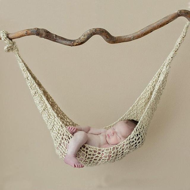 HAPHOOD ganchillo blanco hamaca bebé recién nacido fotografía Props ...