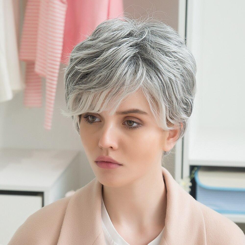 Блондинка Единорог 8 дюймов короткие прямые волосы парик пушистые Многослойные волосы с  ...