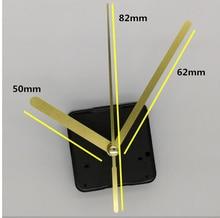 10pcs Gold hands Wall Clock Replacement Parts Hands DIY Quartz Movement Mechanism Repair Tool Kit/Set with hook