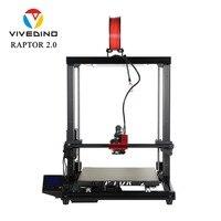 2020 VIVEDINO Raptor 2+ Big 3D Printer size of 400x400x500mm Aluminum Extrusion With Laser