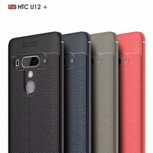 Luxury TPU Silicone Imitation Leather back Case For HTC DESIRE D12 12 PLUS Phone Case For HTC U11 EYES Life U12 Plus Phone Cover стоимость