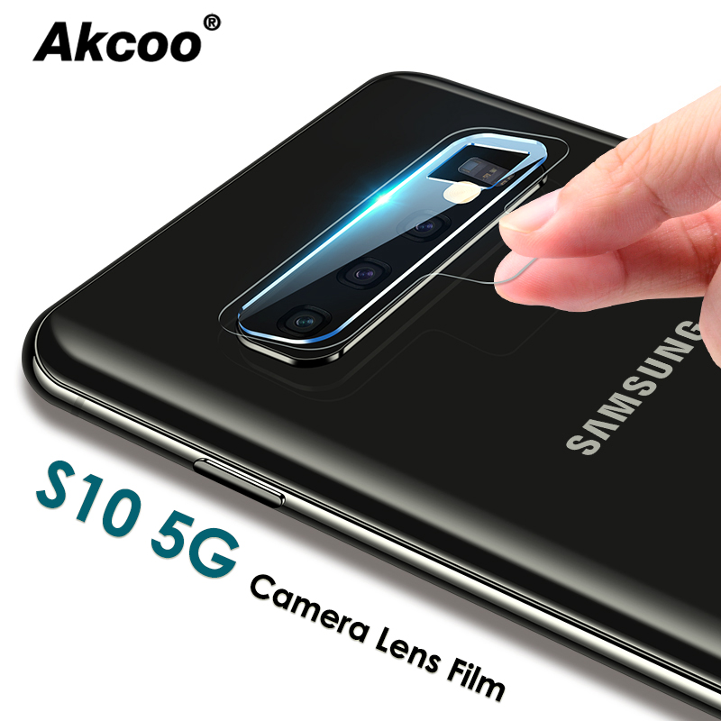 Akcoo S10 5G Camera Lens Films Ultra Slim High Definition For Samsung Galaxy S8 9 10 Note 8 9 10 Pro 5G Camera Lens Protector