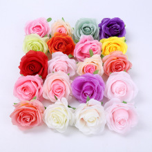 100 Pcs Artificial Silk Rose Flower Family Wedding Simulation Tea DIY Wreath Wall