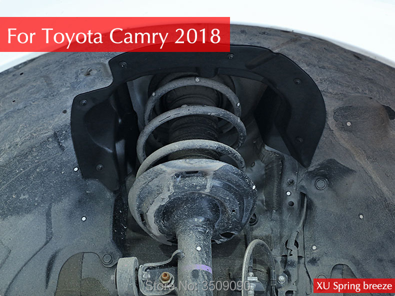 Автомобиль Снаружи спереди грязи колеса внутренняя защита крыло Стикеры 2 шт./компл. для Toyota Camry 2017 2018