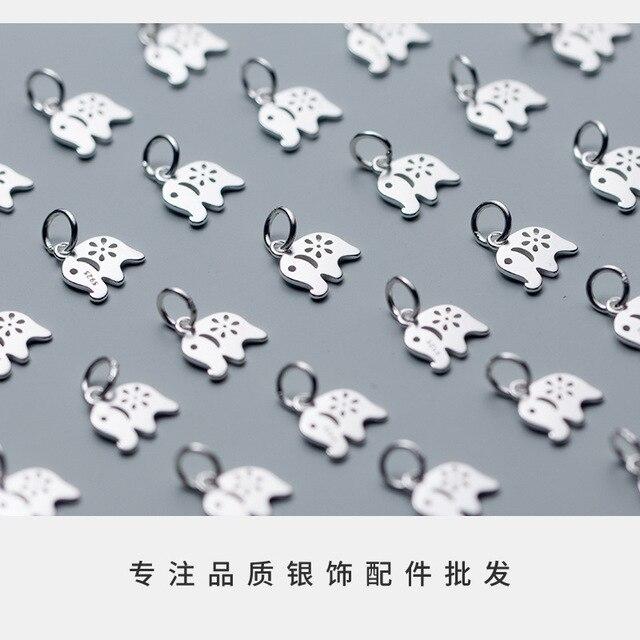 Uqbing 100% Стерлинговое Серебро 925 пробы полые плоские 10*10*12