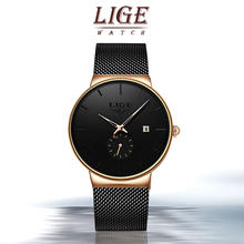 LIGE Sports Date Mens Watches Top Brand Luxury Waterproof Sport Watch Men Ultra Thin Dial Quartz Watch Casual Relogio Masculino