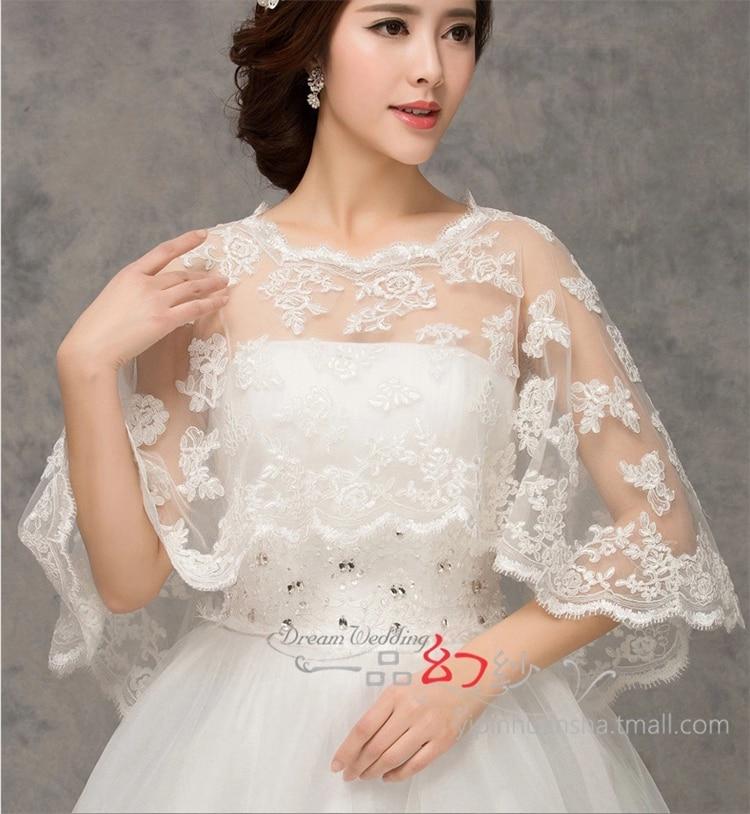 Wedding Gown Wraps: 2015 Lace Shawl Shrug Jacket Wrap Bolero For Wedding Dress