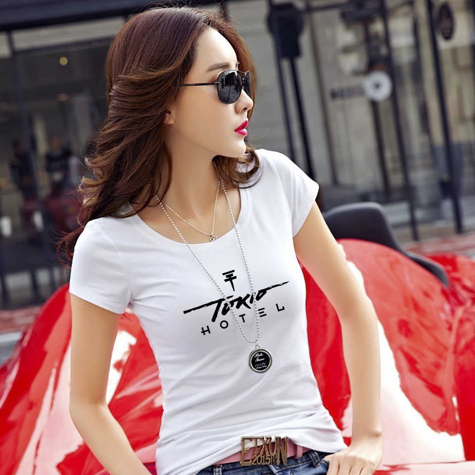 LCXY Casual fashion Summer women T Shirt slim women's t-shirt tokio hotel Trendy Hipster Like Breathable Comfortable T-shirt