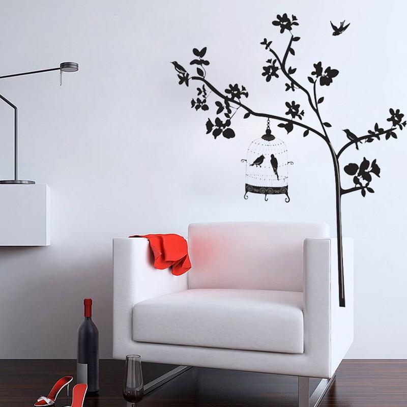 ᑎ‰شجرة ملصقات الحائط الشارات الجدار ملصق ل غرف الزينة المنزلية