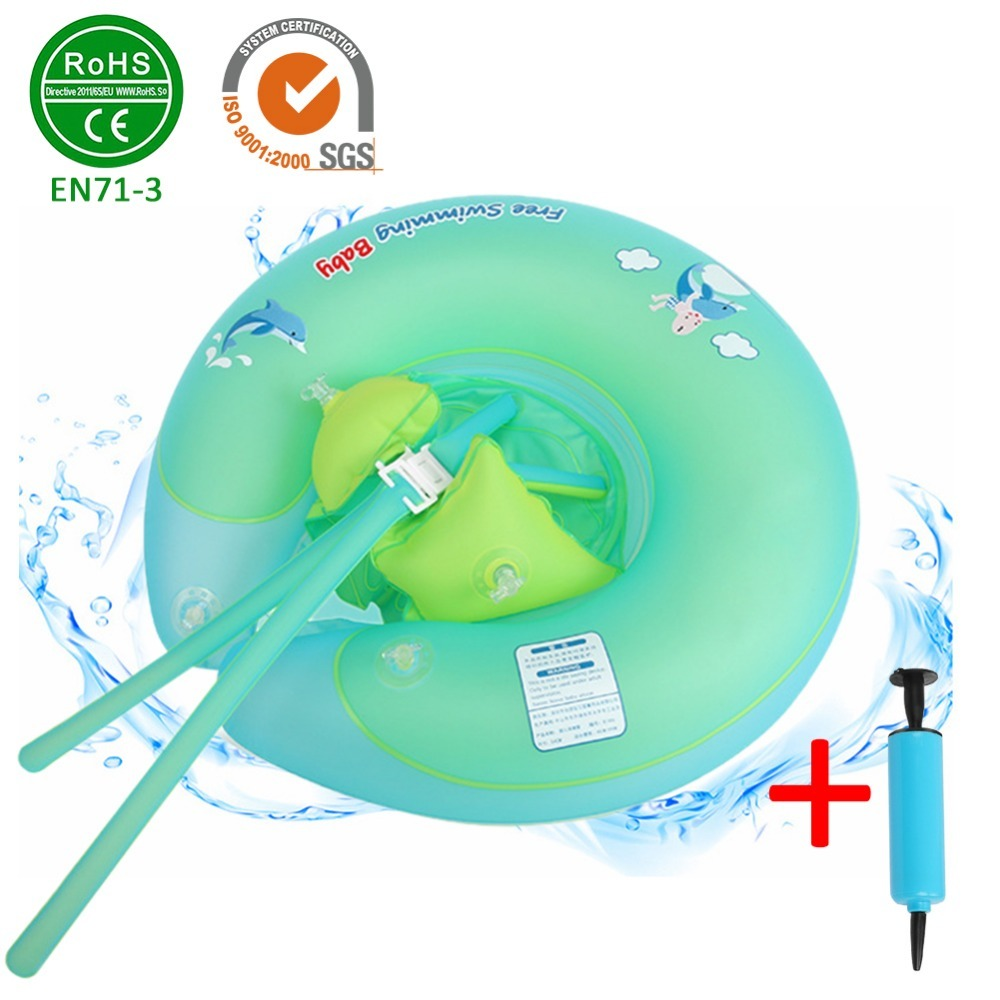 Kids U Shaped Underarm Inflatable Pool Float Baby Waist Inflatable Circle Float Swimming Pool Floaties Swim Ring for Baby boys
