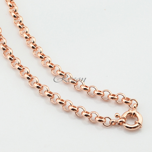 1 Set 6mm Rolo Chains Men Women Set Jewelry Rose Gold Filled Rolo