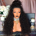 "Peruvian Human Hair Full Lace Wigs Kinky Curly Front Lace Wig For Black Women 16""-24"" Full Lace Human Hair Wigs With Baby Hair"