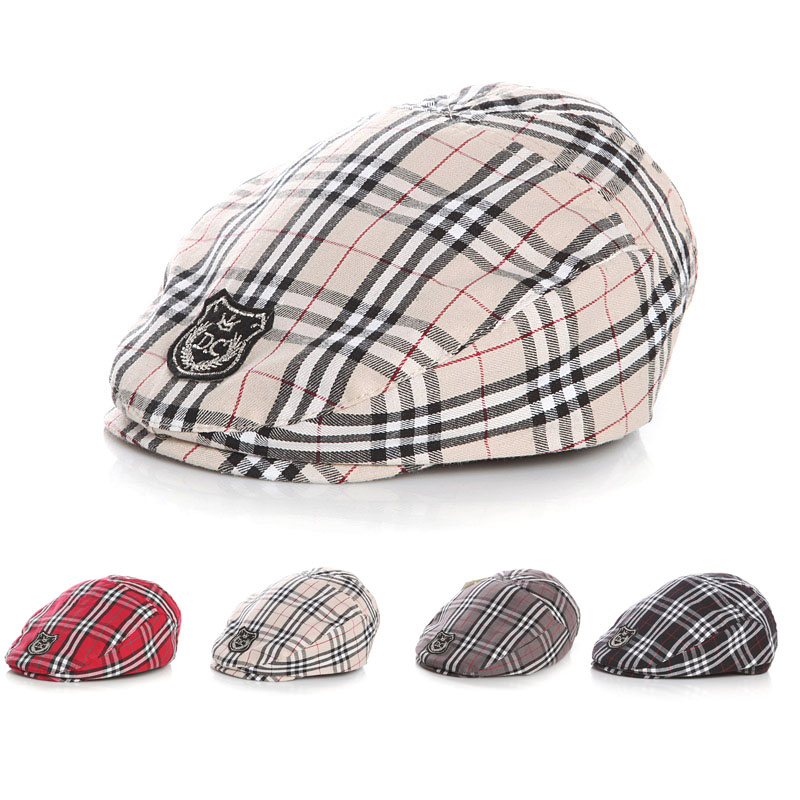 classic plaid Infant Beret hat Handsome Baby Hat Adjustable toddler Girls Boys fashion Cap child sun hat winter hat women s thermal knitted hat rabbit fur cap fashion knitted hat cap quinquagenarian beret hat year gift mother s beret