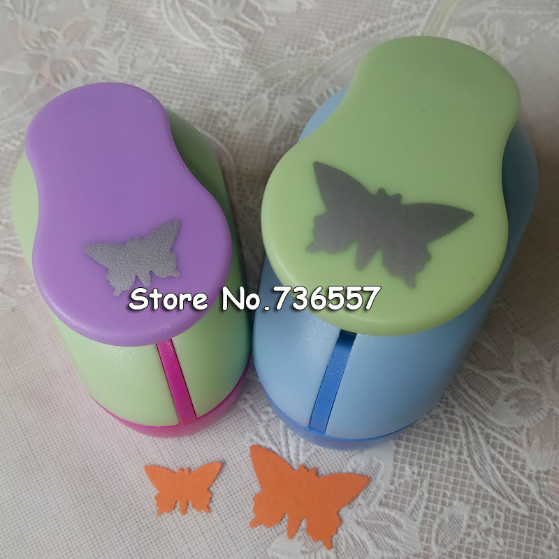 2pcs(5.0cm,2.5cm) Butterfly Shape Craft Punch Set Punch Craft Scrapbooking School Paper Puncher Eva Hole Punch Free Shipping18.8