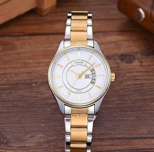 Fashion Top Brand Couple Watch Men Woman Rose Gold Stainless Steel Luxury Quartz watch Double Calendar Casual montre homme clock