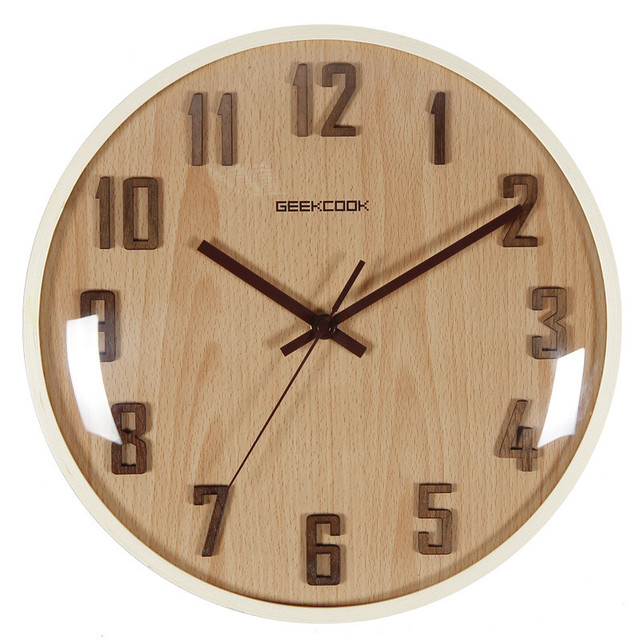 Vintage Wall Clock Simple Modern Design Wooden Clocks for Bedroom 3D Wood Wall Watch Home Decor Silent Wall Clock Living Room