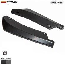 Epman 2 шт./компл. Универсальный Автомобильный задний бампер полоса для установки губы диффузор подбородка спойлер Canard дефлектор EPHBJ01