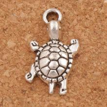 цена Turtle Tortoise Animal Spacer Charm Beads 26PCS Antique Silver Pendants Jewelry DIY L1174 23x12.2mm