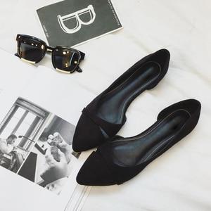 Image 3 - BEYARNEWoman Simple Lesisure Shoes For Walking No Heel Slip on Shallow Toe Flock Fashion Zapatos Plus Size35 46E740