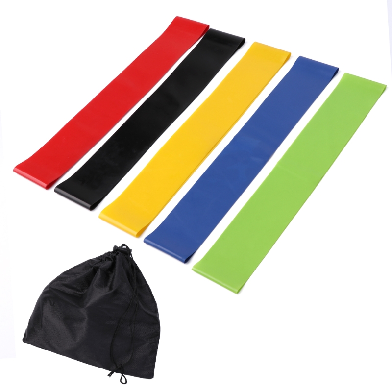Resistance Bands Fitness & Body Building Active 5pcs/set Latex Resistance Loop Exercise Yoga Bands Workout Physical Therapy Tool