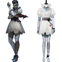OW Hacker Sombra Corpse Bride Cosplay Costume Uniform Outfit Halloween Suit For Women Girls Halloween Carnival Costumes