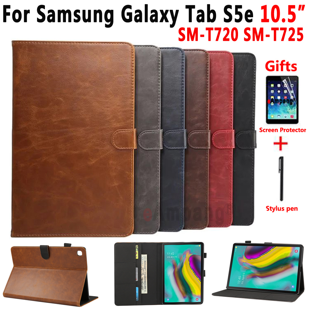 Premium Leather Case For Samsung Galaxy Tab S5E 10.5 2019 SM-T720 SM-T725 T720 T725 Cover Smart Case For Samsung Tab S5e 10.5