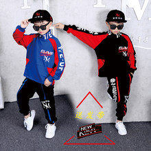High Quality Children's Street Dance Costume Korean Boy's Casual Sweater Children's Drums Jazz Dance Trend Hip Hop Dance Clothes(China)