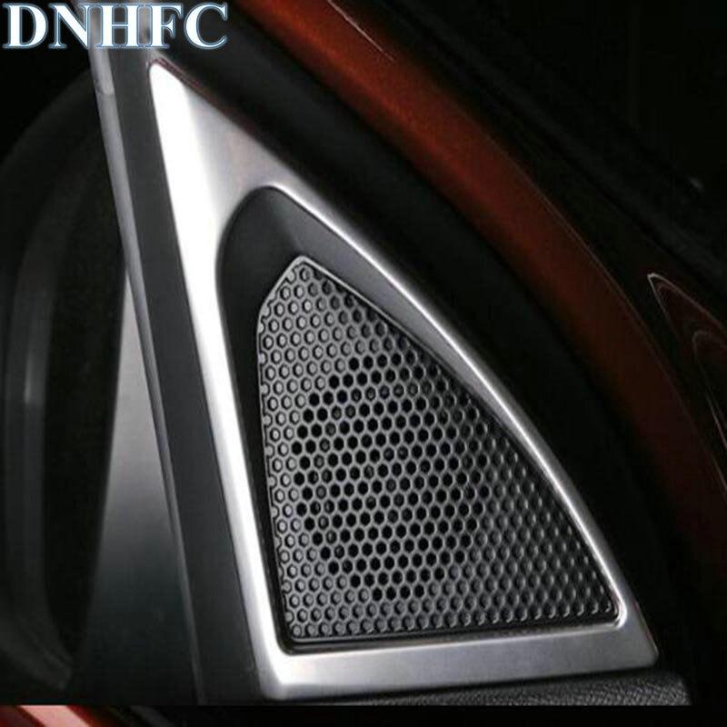 DNHFC Accessories Car A-pillar Speaker Loudspeaker Horn Decoration Cover Trim Sticker for Peugeot 3008 2017 Car Styling